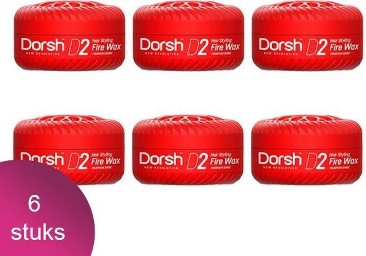 Dorsh Haar Wax D2 Fire Wax Maximum Shine 6 Verpakking - 150ml