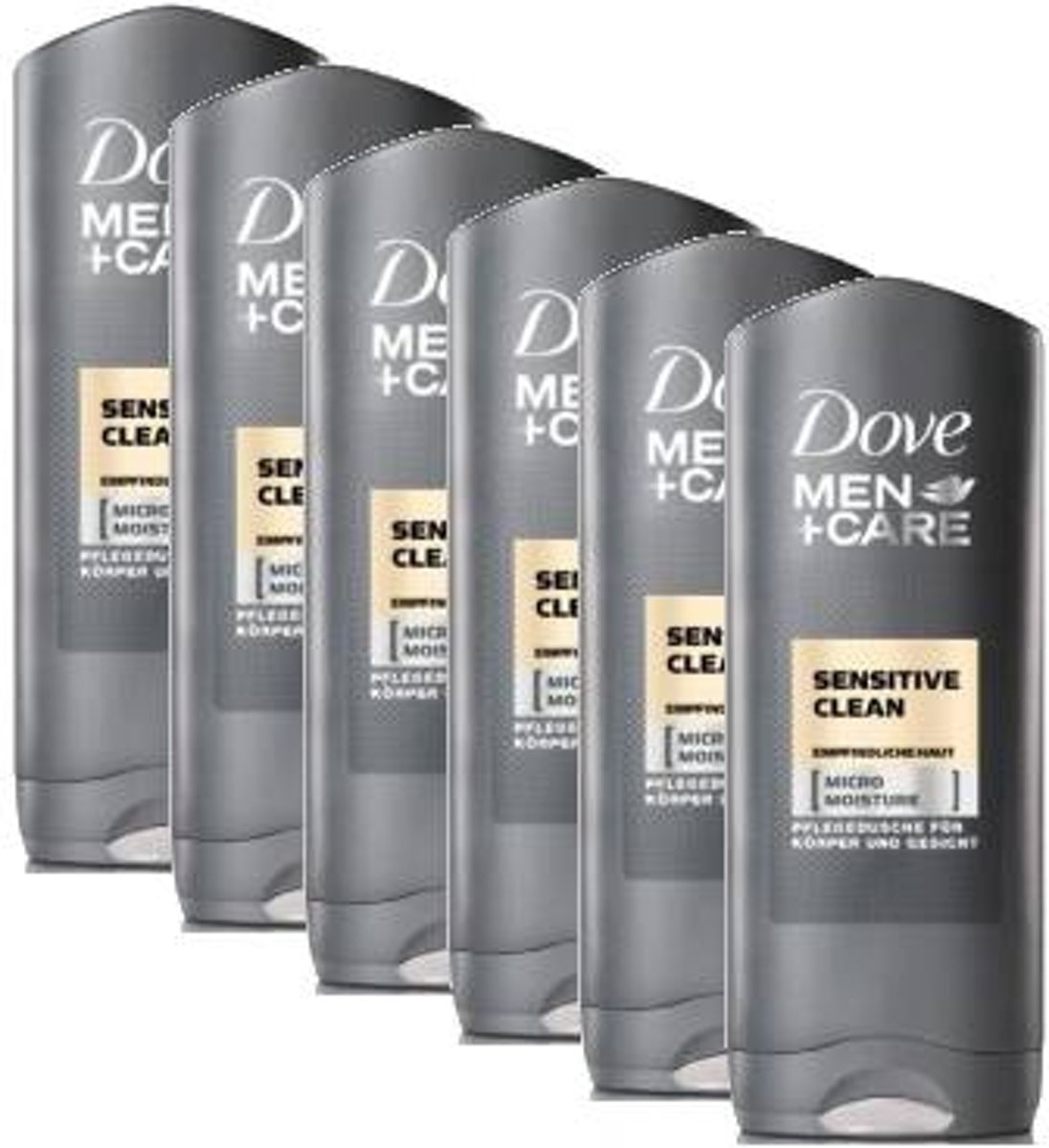 6x 250 ml Dove men + care sensitive clean -  douchegel