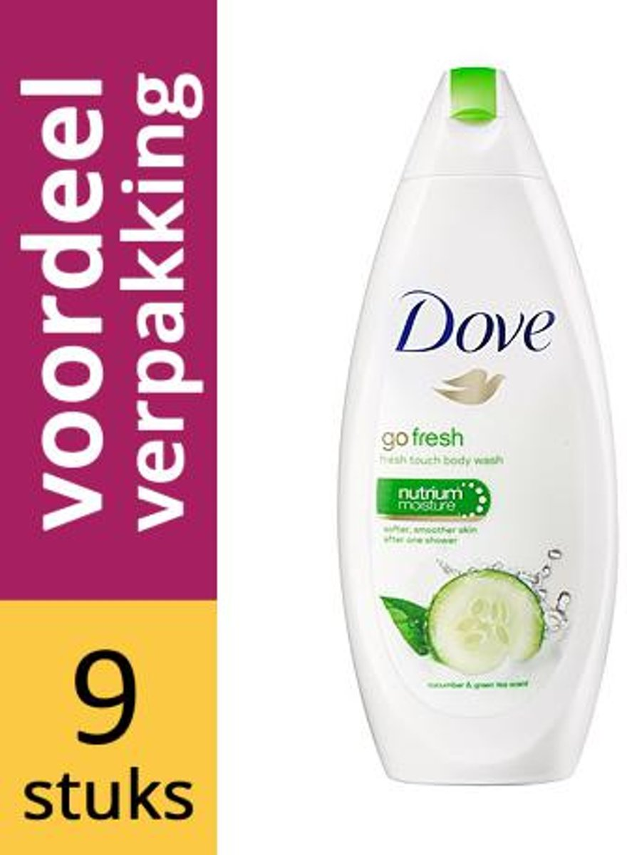 Dove Douchegel Go Fresh Touch - 9 x 250 ml - voordeelverpakking