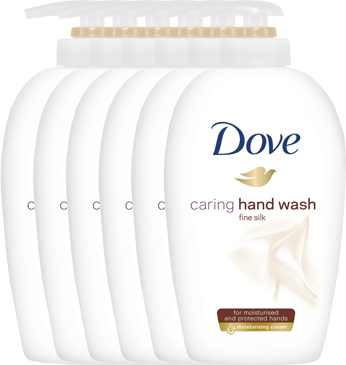 Dove Fine Silk Cream Wash Women Zeep - 6 x 250  ml - Voordeelverpakking