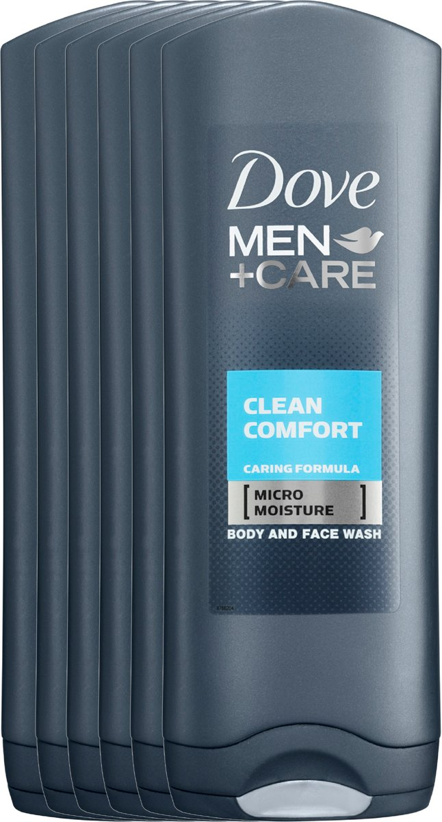 Dove Men+Care Clean Comfort - 6 x 250 ml - Douche Gel - Voordeelverpakking