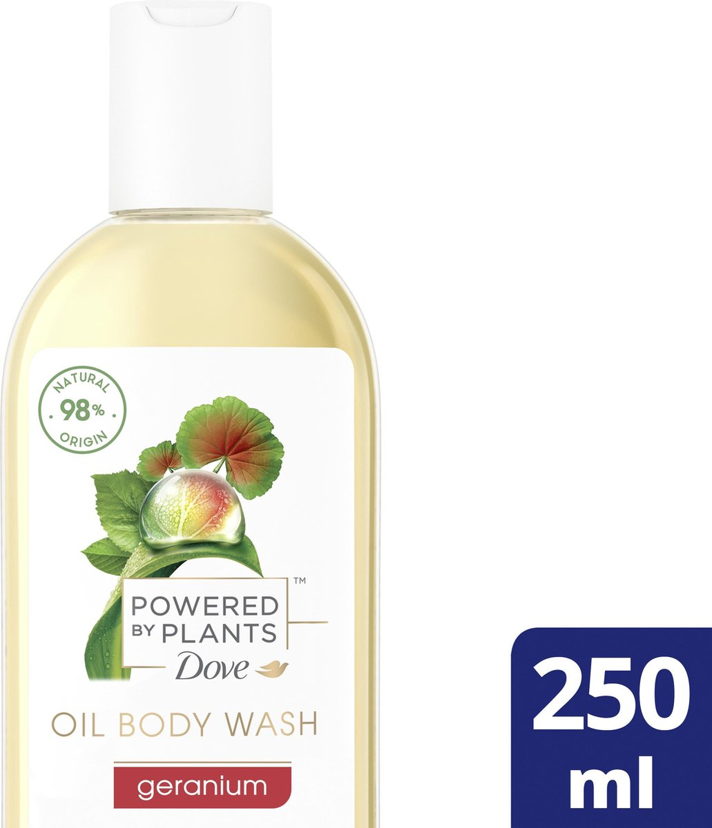 Dove Powered by Plants Douchegel Oil Body Wash Geranium 250 ml