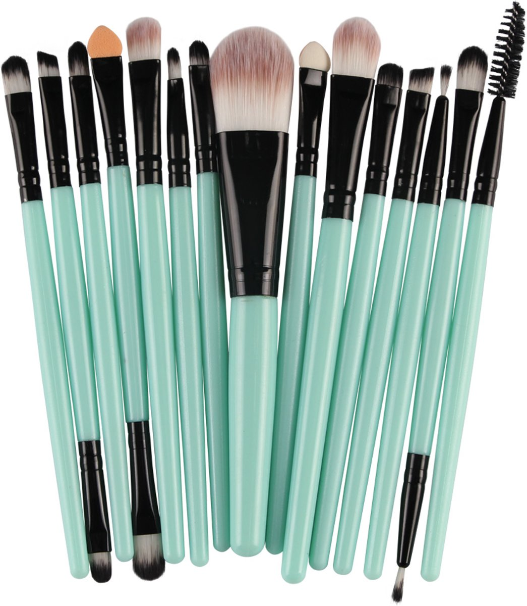 20 delige Makeup borstel set | Duurzame makeup brushes Groen