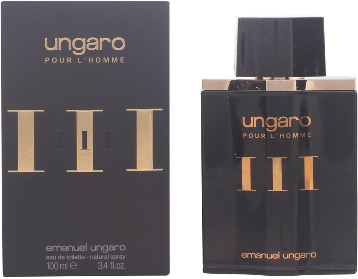 MULTI BUNDEL 2 stuks UNGARO POUR LHOMME III eau de toilette spray 100 ml