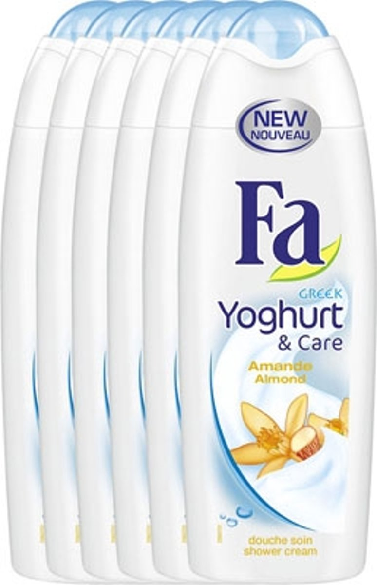Fa Douche Gel Greek Yoghurt & Care - 6 x 250ml - Voordeelverpakking