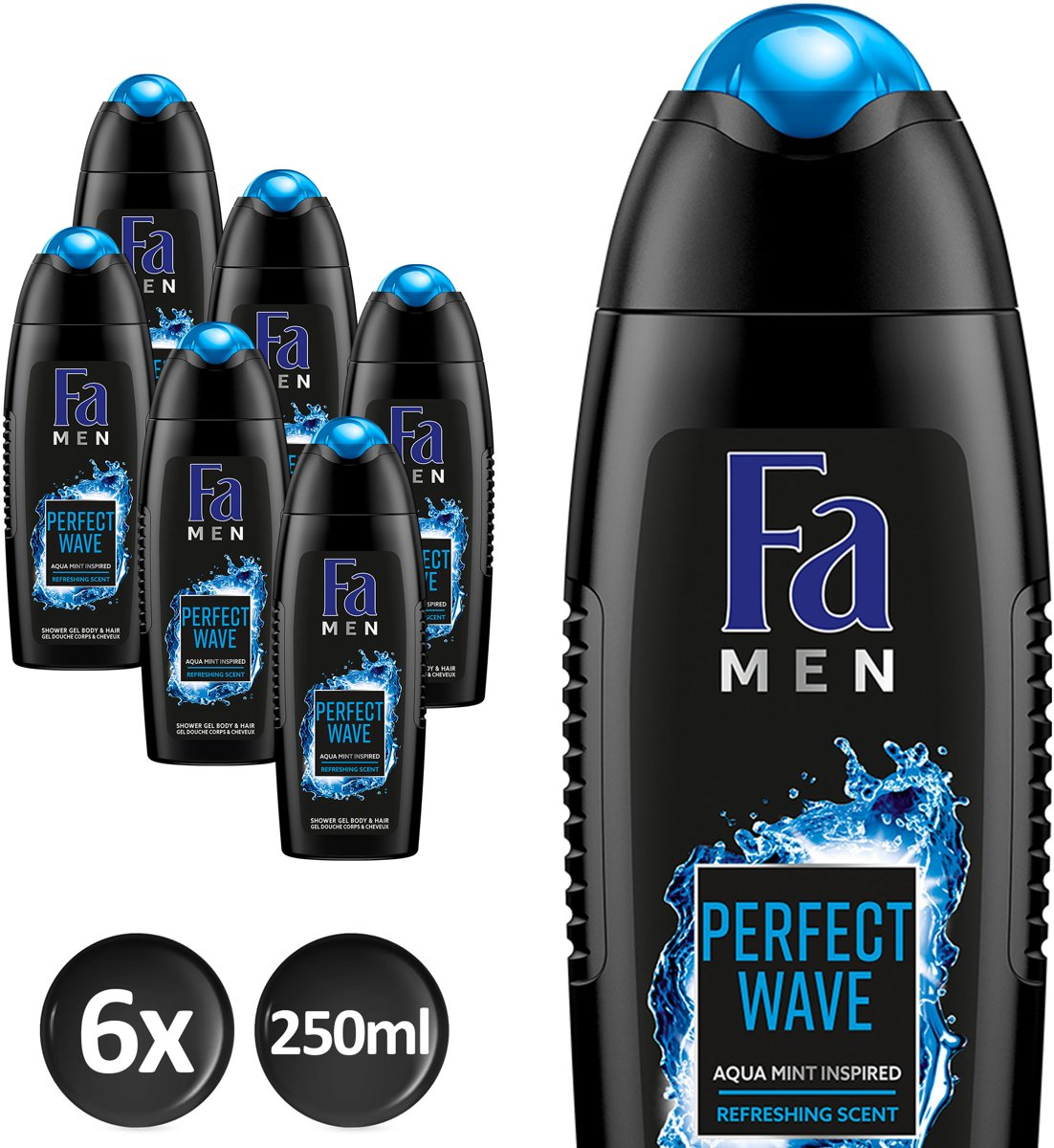 Fa Perfect Wave - 6x 250 ml - Voordeelverpakking - Douchegel