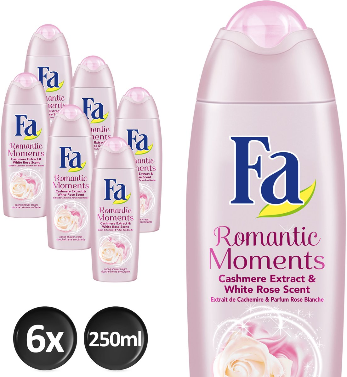 Fa Romantic Moments - 6x 250 ml - Voordeelverpakking - Douchegel