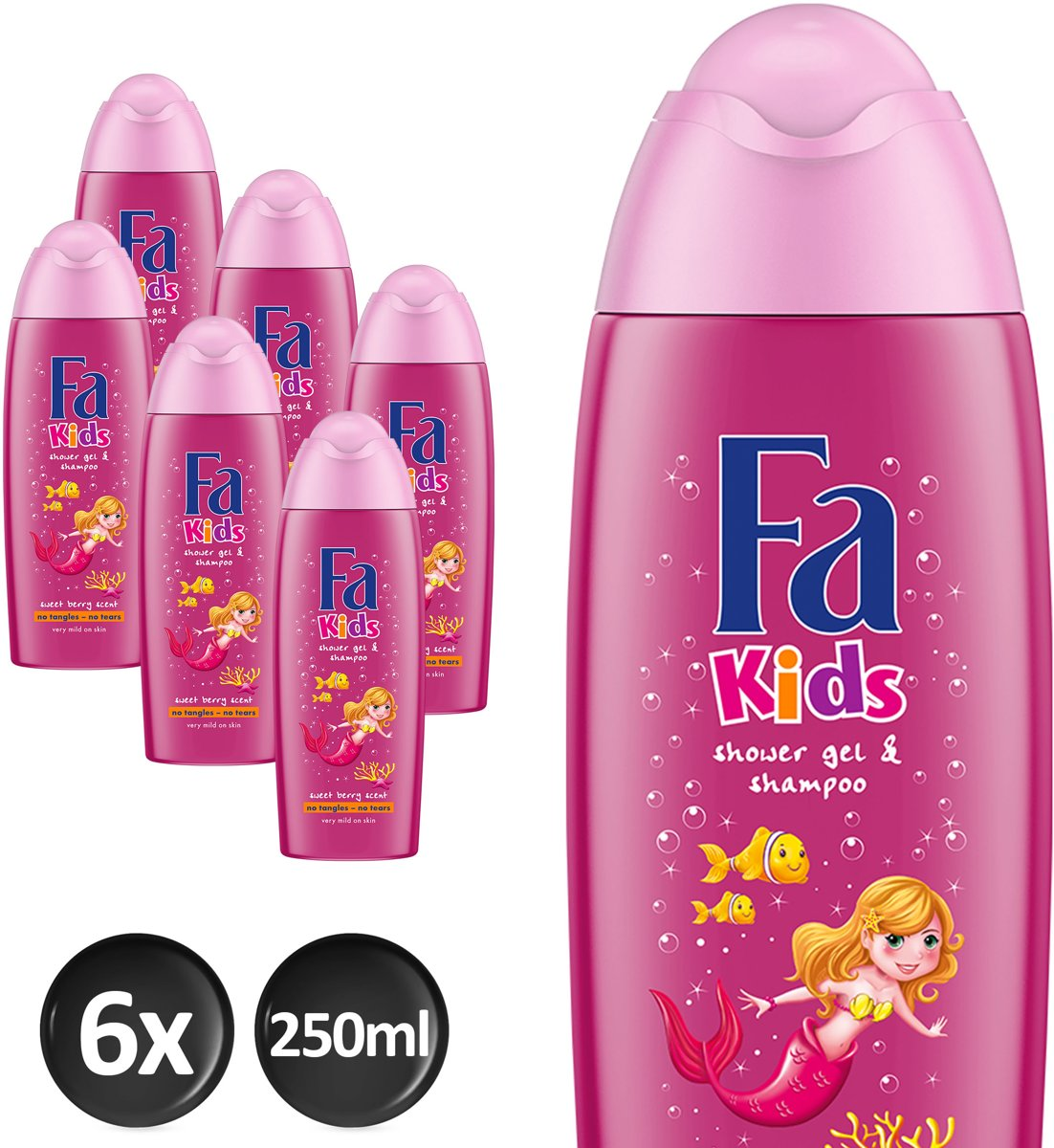 Fa Showergel Kids Mermaid Voordeelverpakking - 6 x 250ml