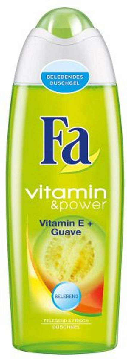 Vitamin and power Vitamin E plus Guava shower gel 250ml