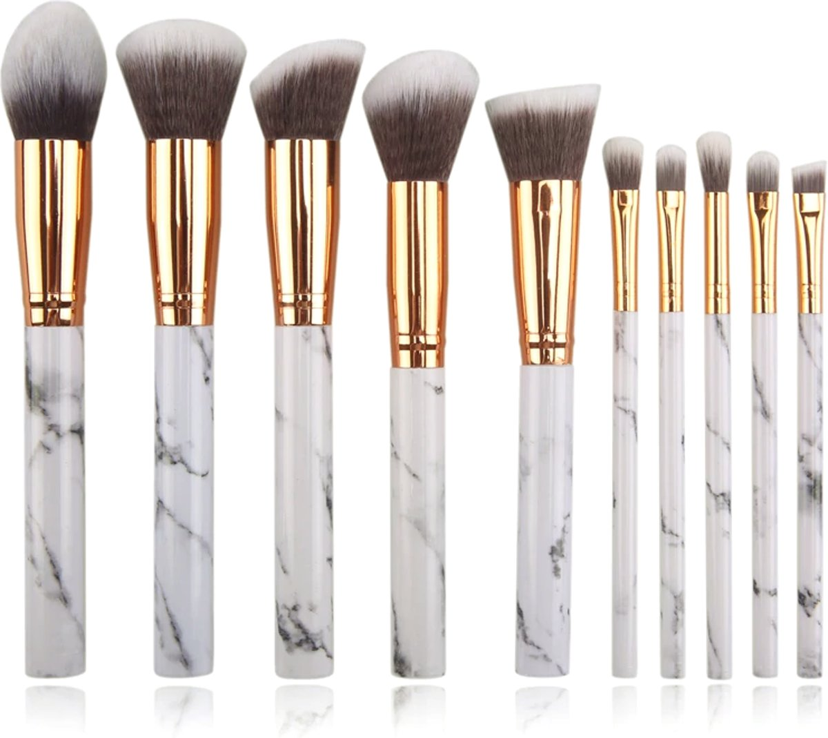 10-delige Make-up Kwasten/Brush Set | Marble / Marmer | Fashion Favorite