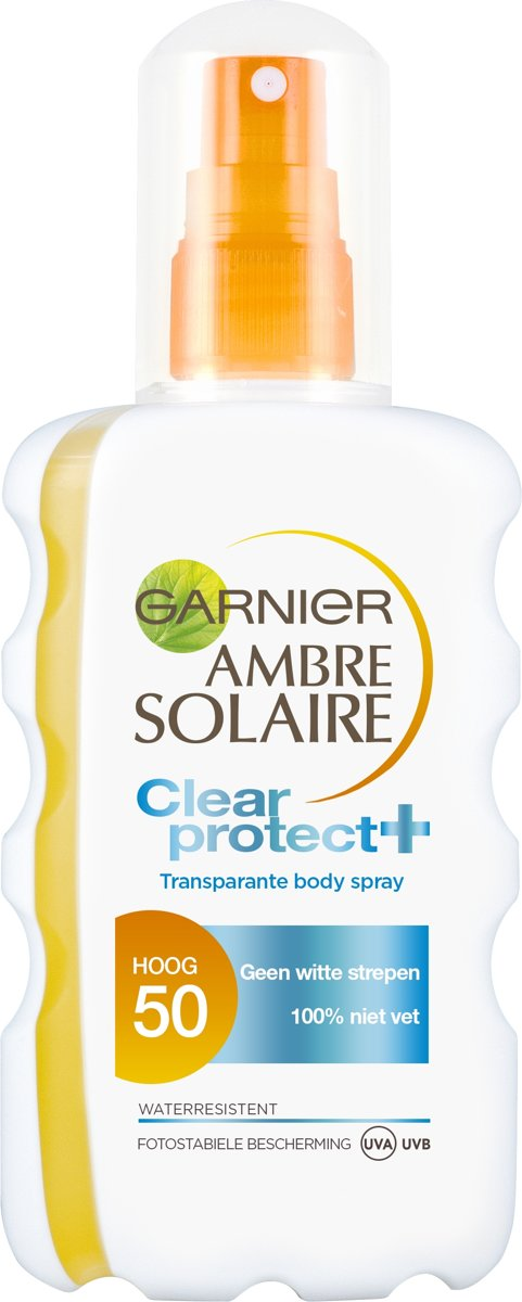 Garnier Ambre Solaire Clear Protect Zonnebrandspray SPF 50 - 200 ml - Transparante Spray
