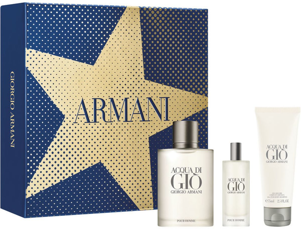 Armani - Eau de toilette - Acqua di gio 100ml eau de toilette + 15ml eau de toilette + 75ml showergel - Gifts ml