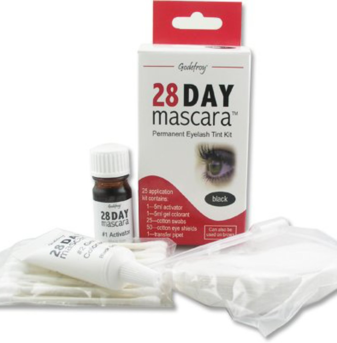 28 Day Mascara Wimperverf voor Thuis by Godefroy - Semi-permanente Mascara in Donkerbruin / Brown - 25 Applicaties