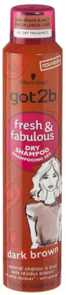 got2B Fresh&Fabulous droogshampoo - Brown 200 ml