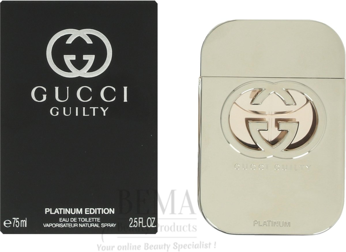 Gucci Guilty Platinum Pour Femme Edt Spray 75 ml
