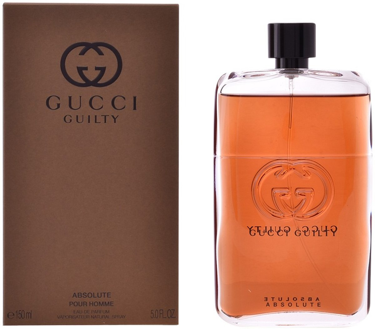 MULTI BUNDEL 2 stuks GUCCI GUILTY ABSOLUTE POUR HOMME Eau de Perfume Spray 150 ml