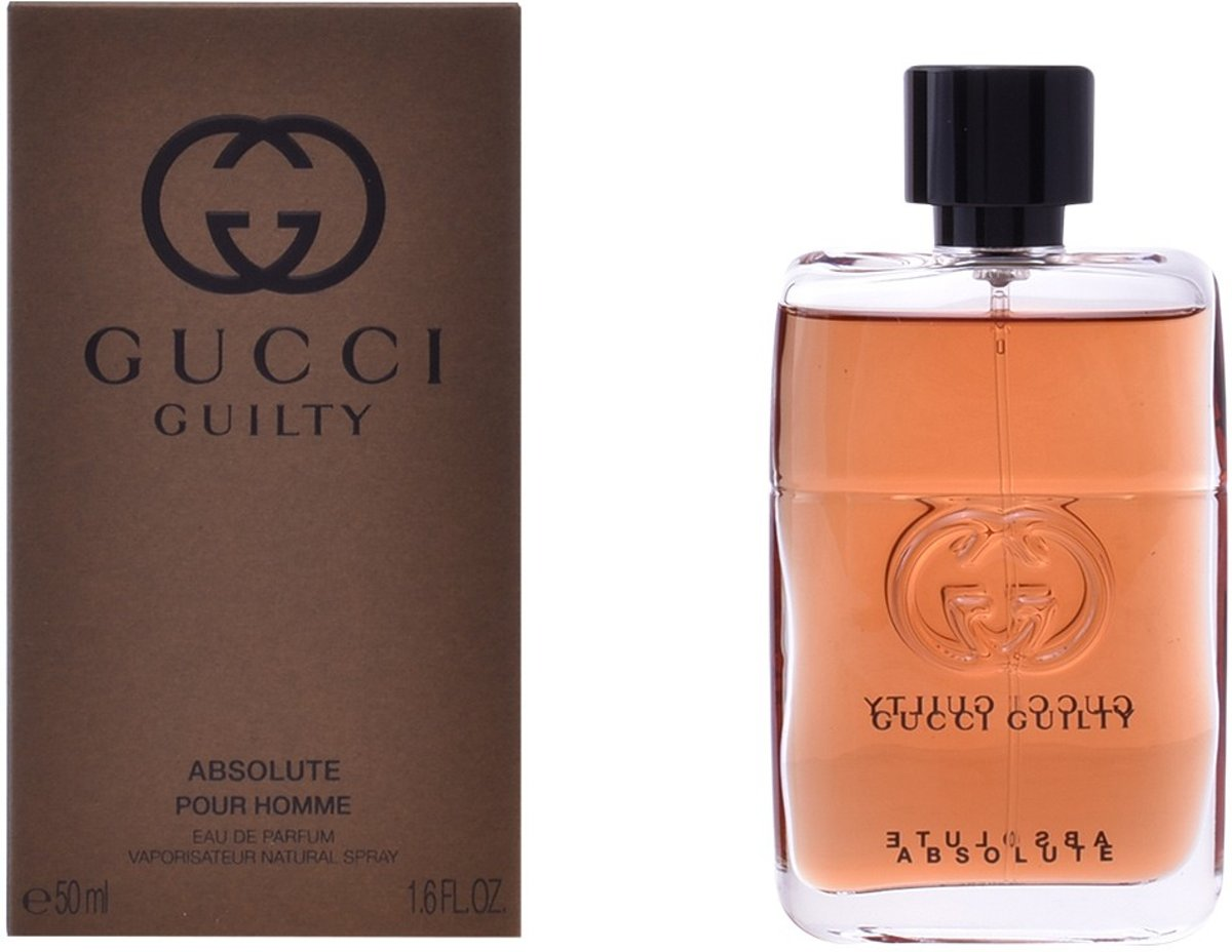 MULTI BUNDEL 2 stuks GUCCI GUILTY ABSOLUTE POUR HOMME Eau de Perfume Spray 50 ml