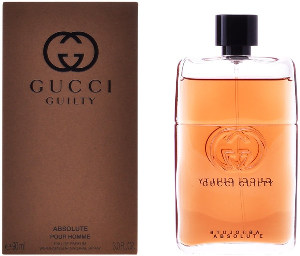 MULTI BUNDEL 2 stuks GUCCI GUILTY ABSOLUTE POUR HOMME Eau de Perfume Spray 90 ml