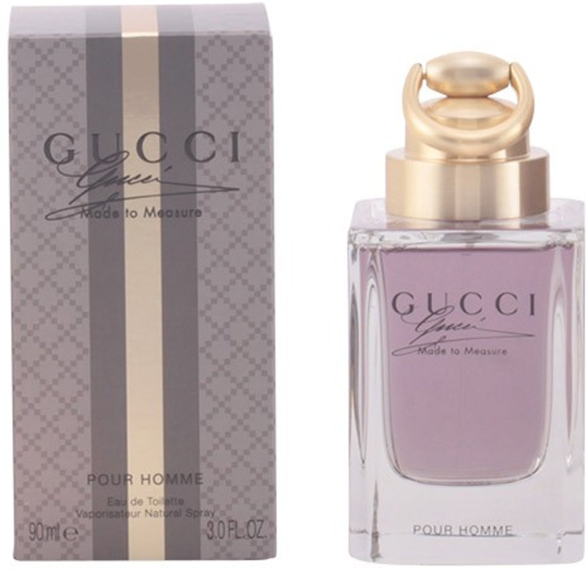 MULTI BUNDEL 2 stuks GUCCI MADE TO MEASURE POUR HOMME Eau de Toilette Spray 90 ml