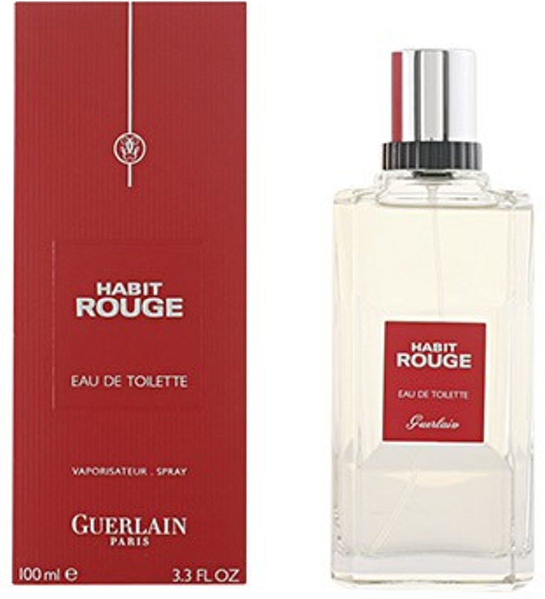 MULTI BUNDEL 2 stuks HABIT ROUGE Eau de Toilette Spray 100 ml