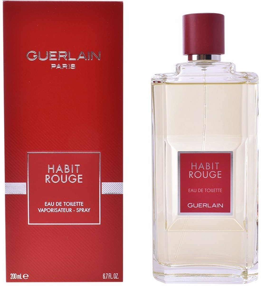 MULTI BUNDEL 2 stuks HABIT ROUGE Eau de Toilette Spray 200 ml