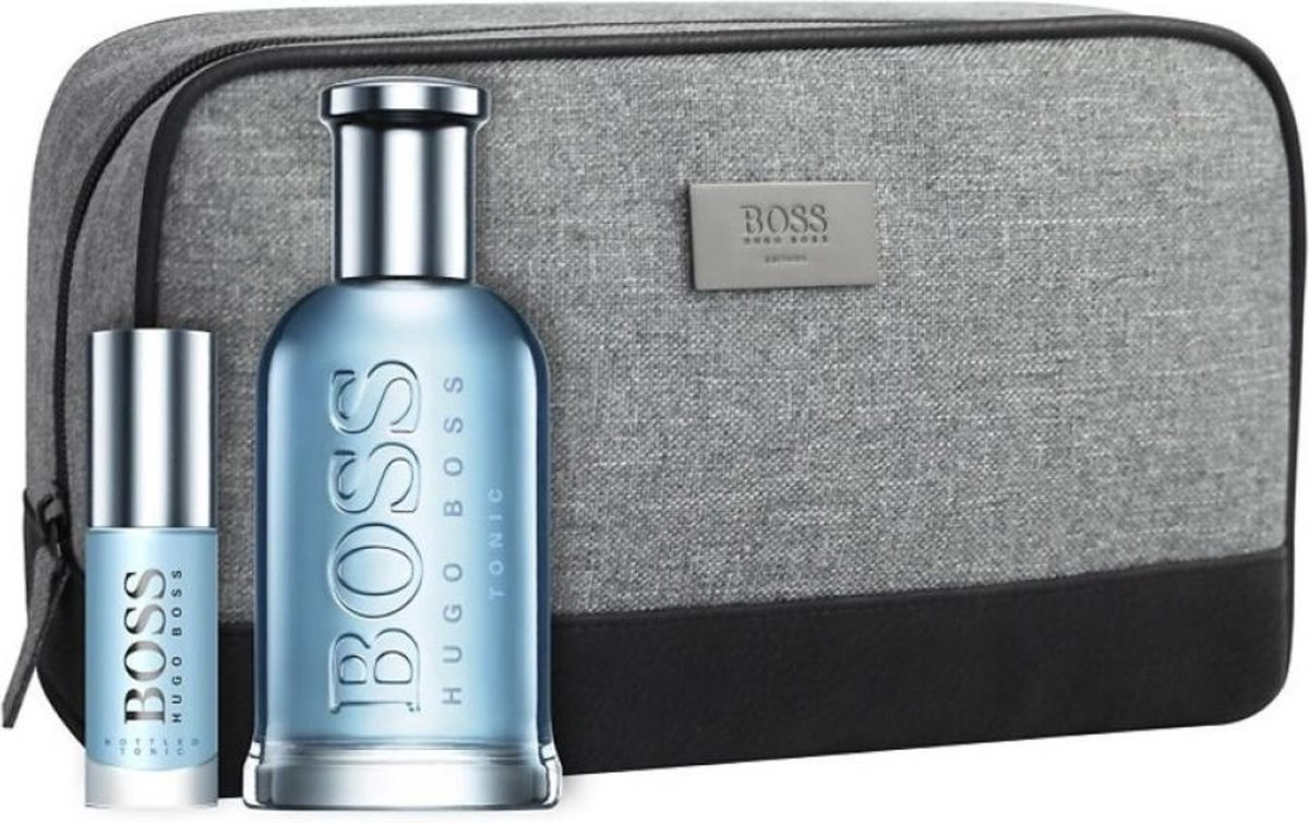 Heren cadeauset: Hugo Boss Bottled Tonic 100ml eau de toilette + 8ml miniatuur