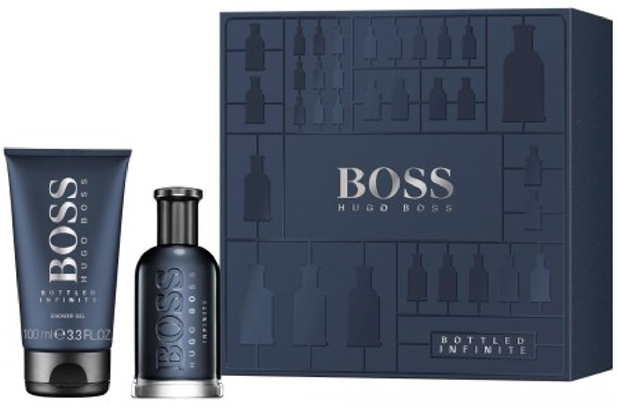 Hugo Boss Bottled Infinite Giftset - 50 ml eau de parfum spray + 100 ml showergel - cadeauset voor heren