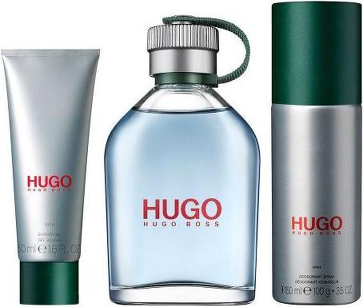 Hugo Boss green 3 Pcs Set For Men: 4.2 Sp (hard Box)