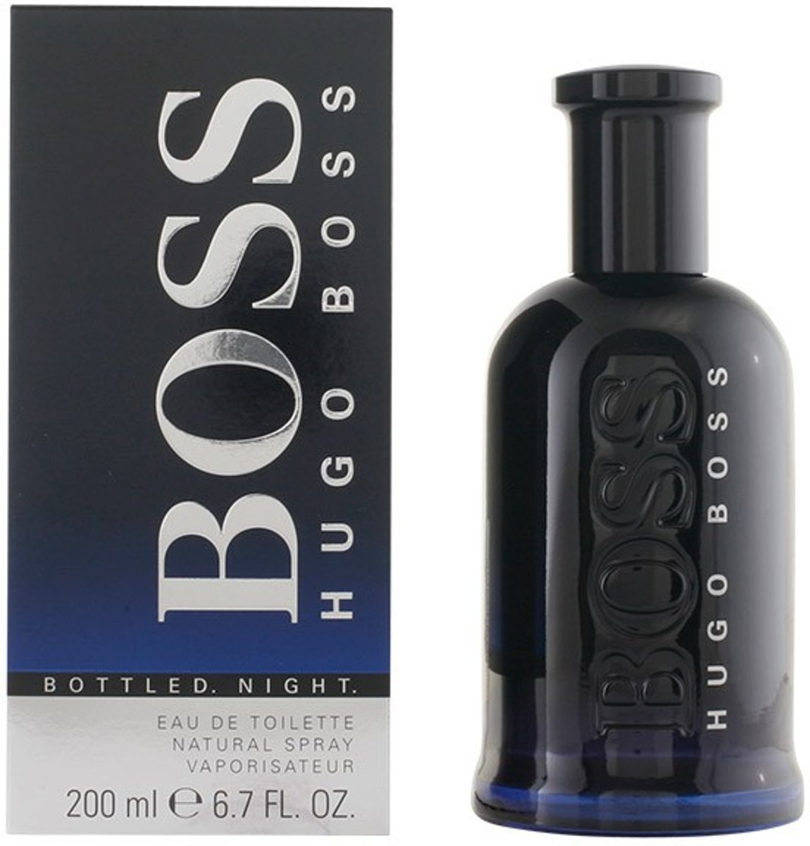 MULTI BUNDEL 2 stuks BOSS BOTTLED NIGHT Eau de Toilette Spray 200 ml