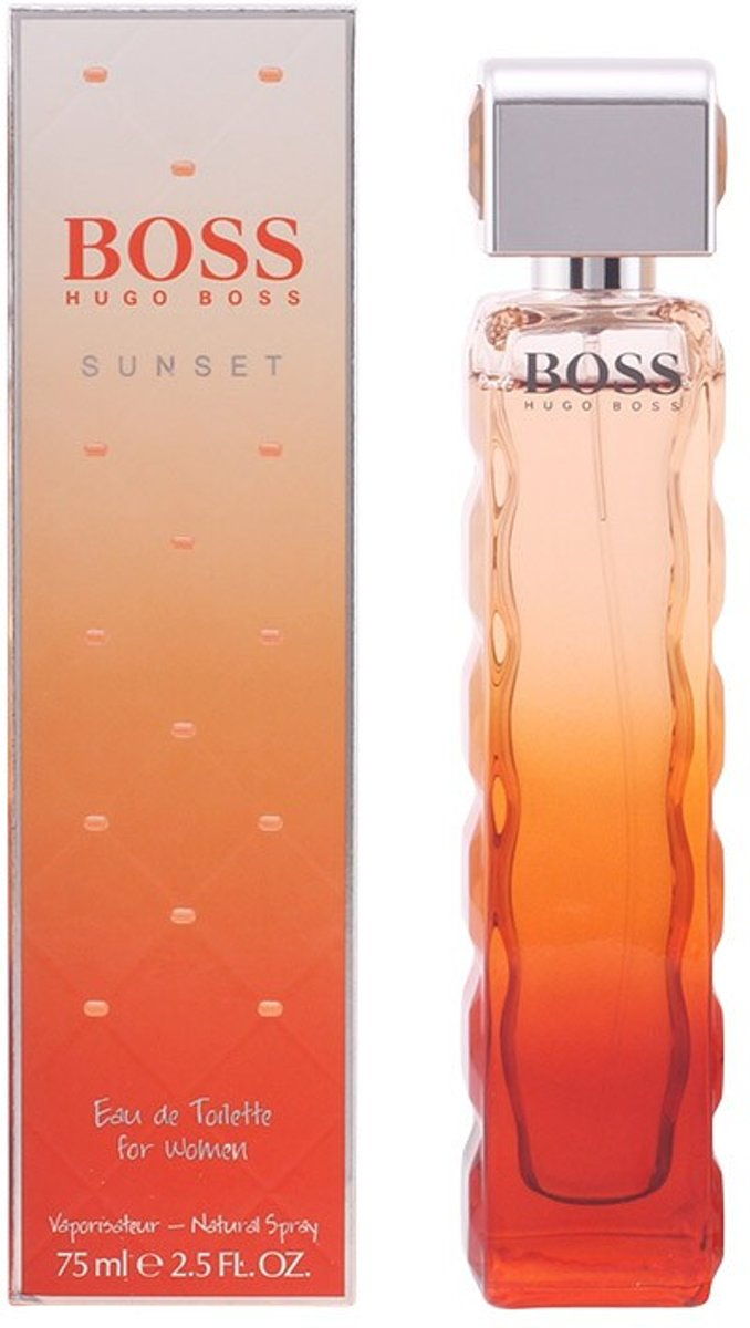 MULTI BUNDEL 2 stuks BOSS ORANGE SUNSET Eau de Toilette Spray 75 ml