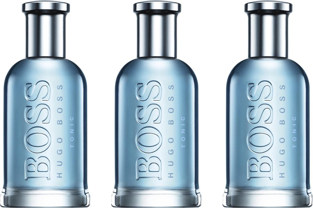 MULTI BUNDEL 3 flesjes Hugo Boss-boss BOSS BOTTLED TONIC - eau de toilette - spray 100 ml