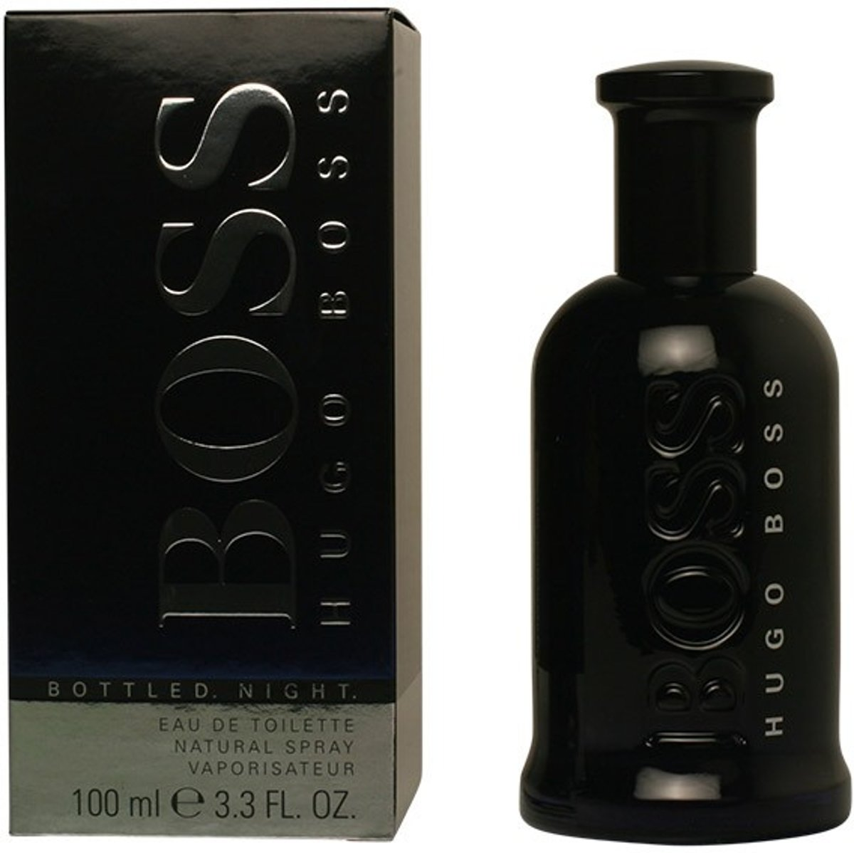 MULTI BUNDEL 3 stuks BOSS BOTTLED NIGHT Eau de Toilette Spray 100 ml