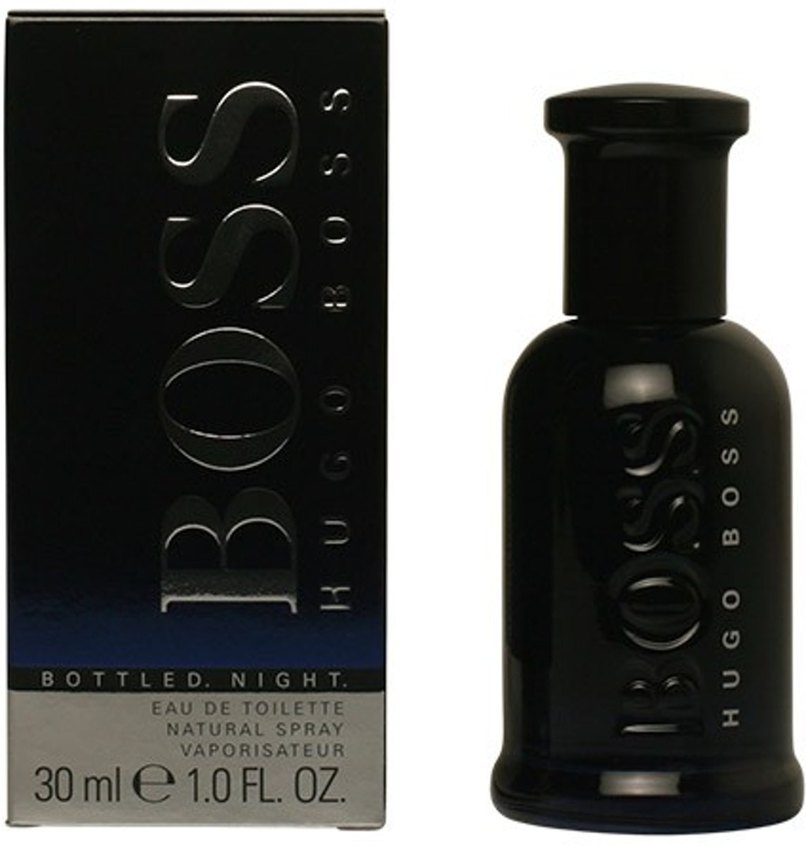 MULTI BUNDEL 3 stuks BOSS BOTTLED NIGHT Eau de Toilette Spray 30 ml