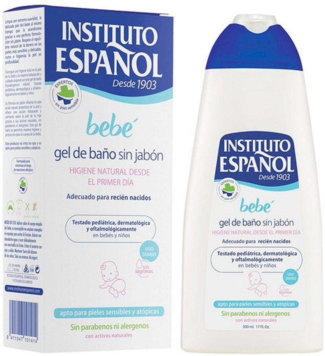 Douchegel Zonder Zeep Bebé Instituto Español (500 ml)
