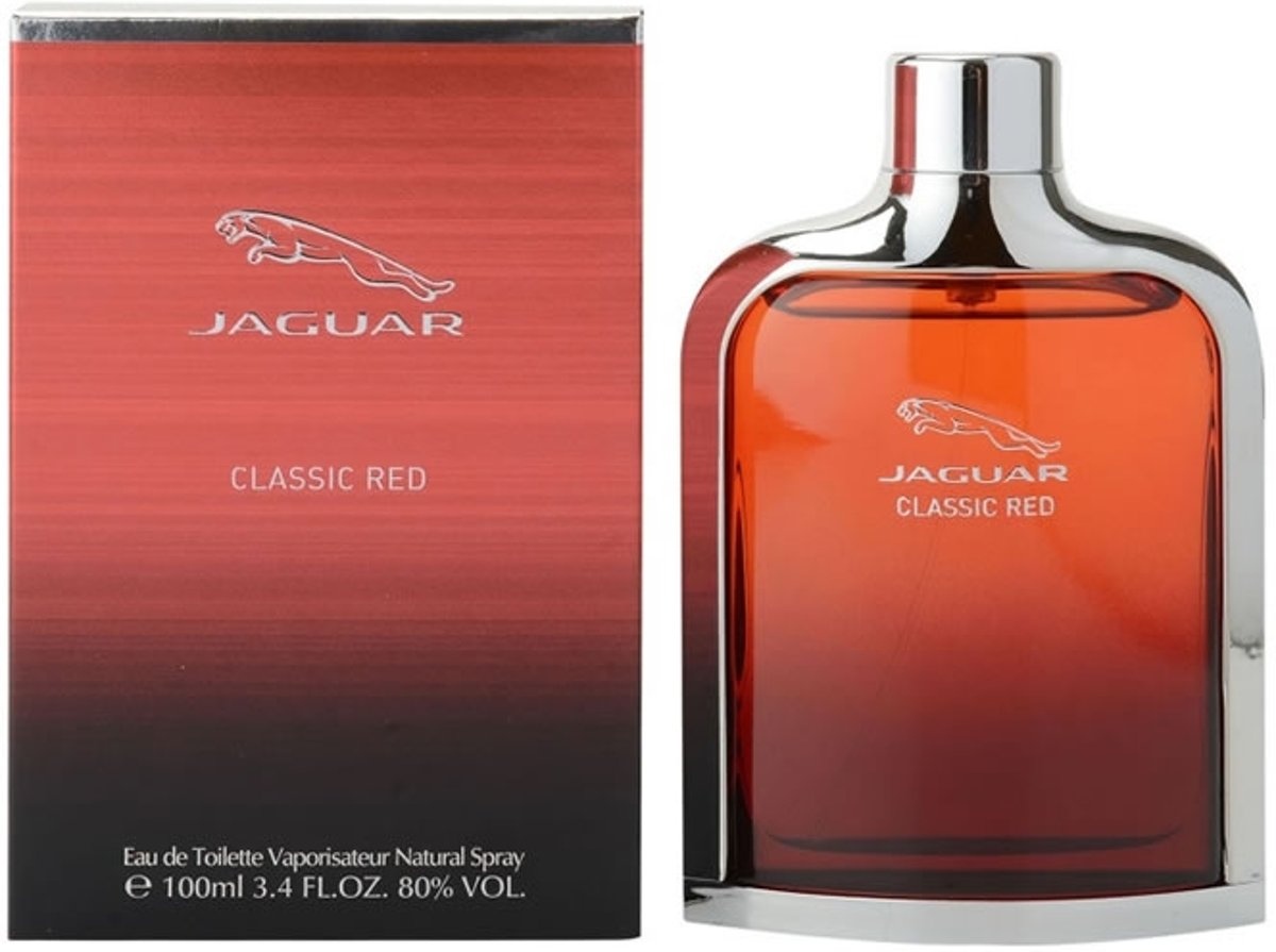 MULTI BUNDEL 2 stuks Jaguar Classic Red Eau De Toilette Spray 100ml