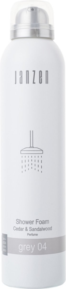 JANZEN Shower Foam Grey 04 - 200 ml - Douchegel