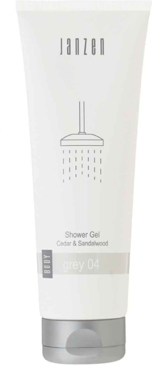 JANZEN Shower Gel Grey 04 - 250 ml - Douchegel