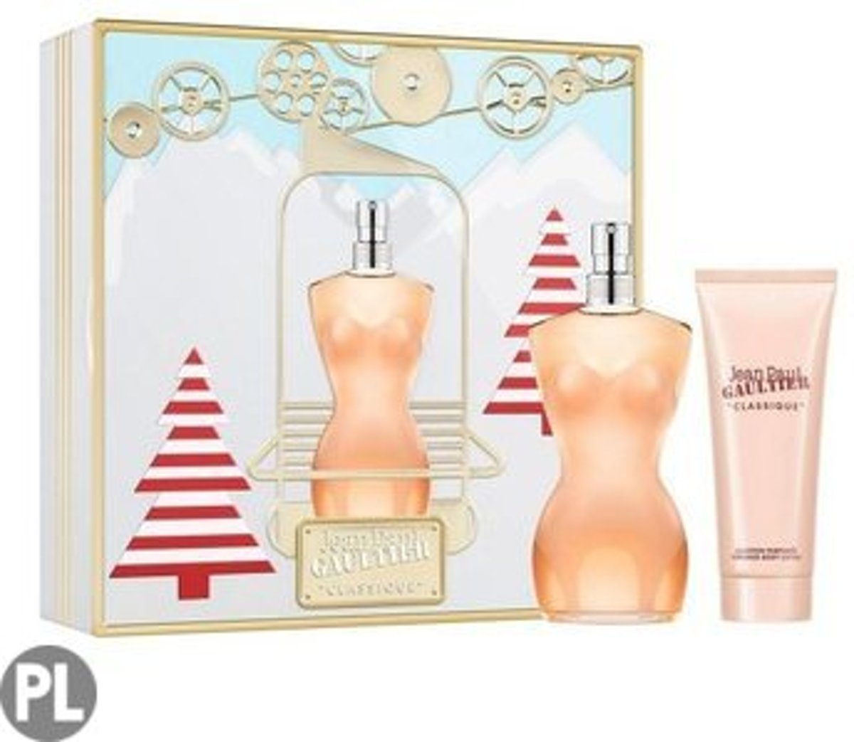 Jean Paul Gaultier Classique 100ml Edt Spray / 75ml Perfumed Body Lotion