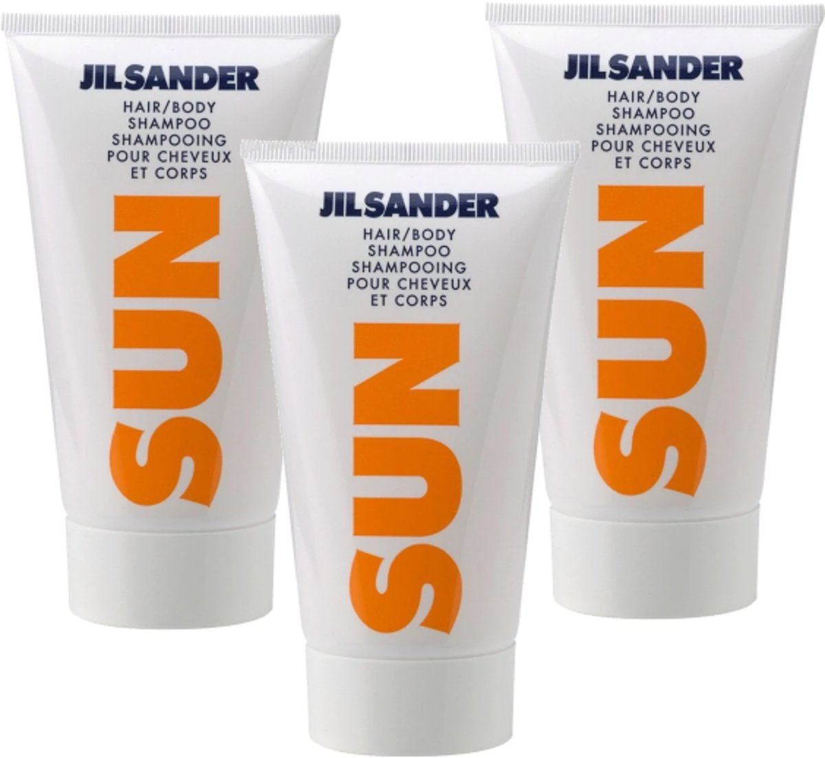3x Jil Sander Sun woman douche gel