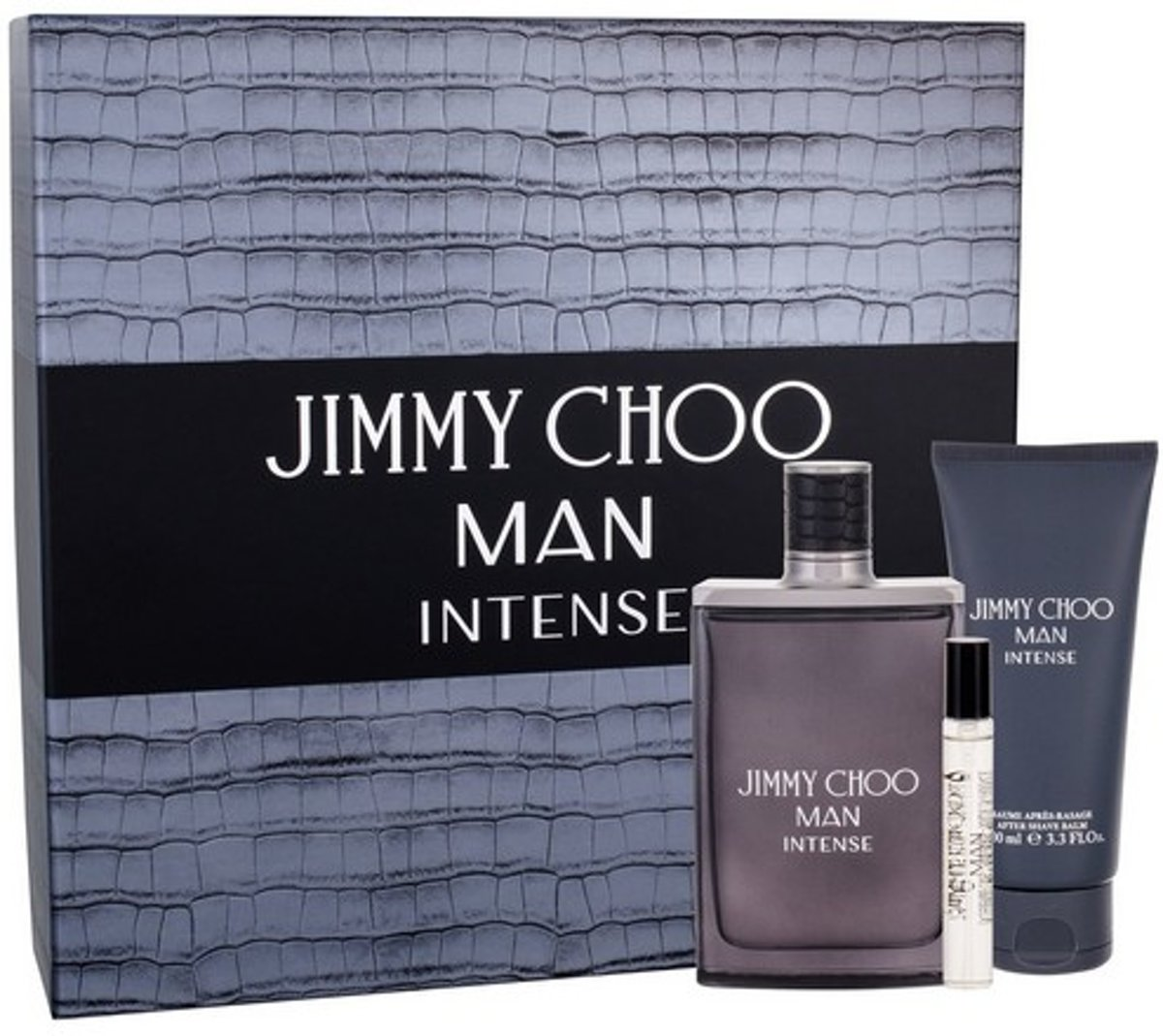 Jimmy Choo Man Intense Giftset - 100 ml eau de toilette spray + 7,5 ml eau de toilette tasspray + 100 ml aftershave balm - herenparfum