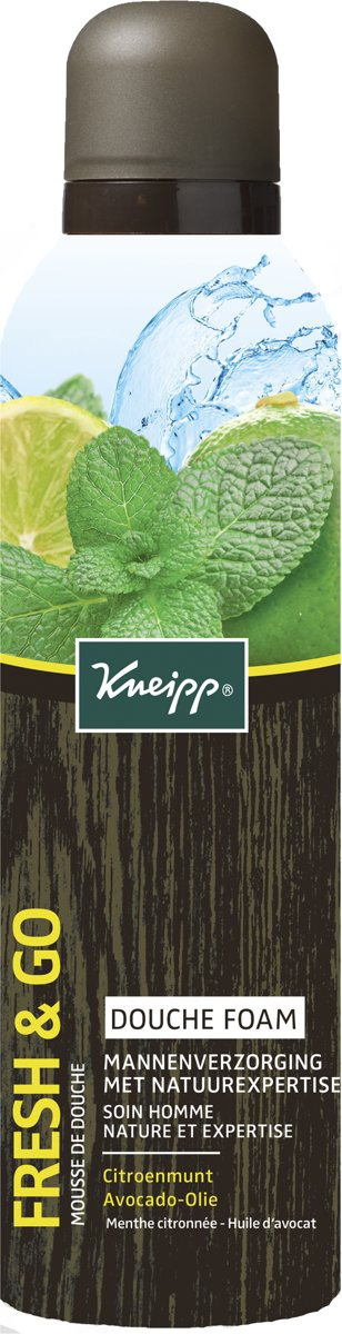 Kneipp Fresh en Go Douche foam - 200 ml - Voor mannen