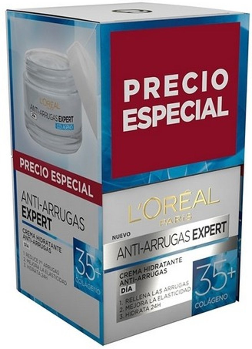 Anti-Veroudering Crème Expert Colageno +35 LOreal Make Up (2 pcs)