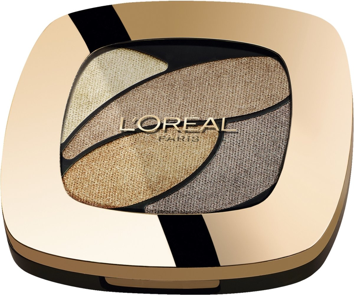 L'Oréal Paris Color Riche Les Ombres Quad - E1 Beige Trench - Brown - Oogschaduw