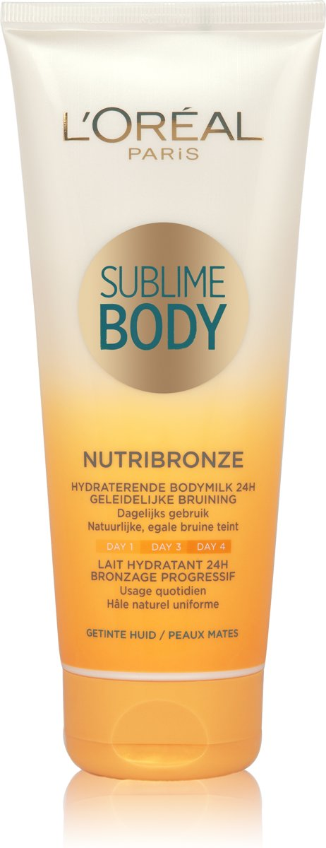 L'Oréal Paris Sublime Body Nutribronze Bodymilk Zelfbruiner - Getinte Huid - 200 ml