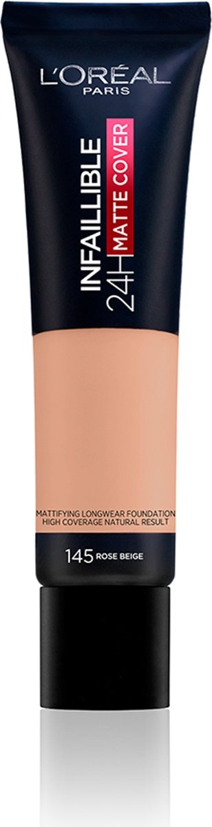 LOréal Paris Infaillible 24H Matte Cover Foundation - 145 Beige Rosé – 35 ml