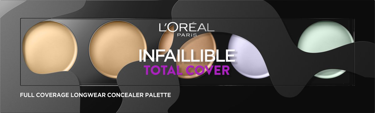 LOréal Paris Infallible Total Cover Concealer Palette - 105 Red Fiction -