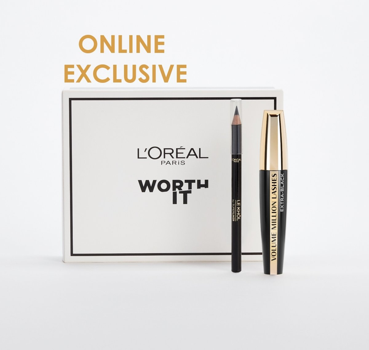 LOréal Paris Volume Million Lashes Mascara cadeauset - Volume Million Lashes Mascara en Super Liner Le Khôl eyeliner - Zwart