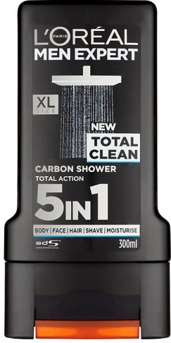 LOreal Paris Showergel Men Expert Total Clean 5 in 1 - 300 ml