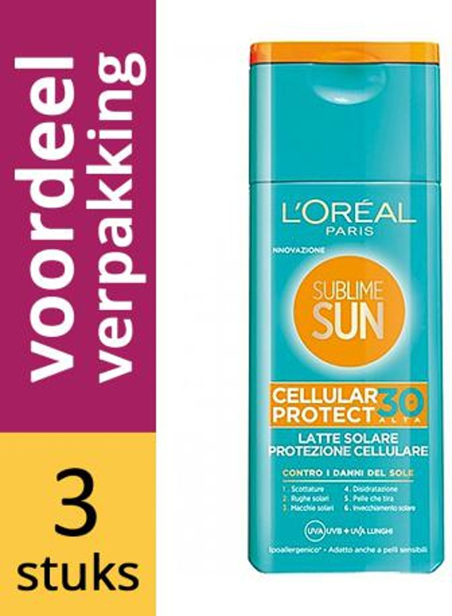 Loreal Paris Sublime Sun Milk Cellular Factor(spf)30
