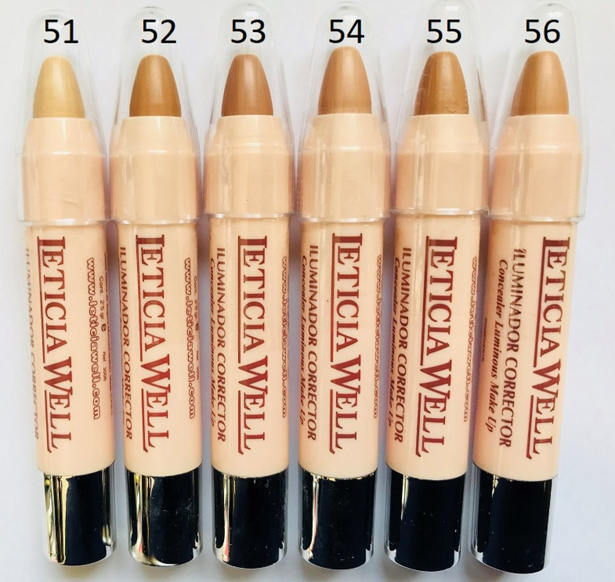 Leticia Well - Concealer Luminous Make Up / Anti Cernes - zeer donkere tint / very dark - nummer 53